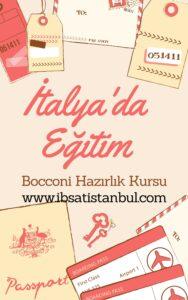 bocconi hazırlık kursu ve üniversite başvurusu. İtalya'da eğitim.